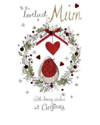 Second Nature Mum Robin Christmas Card