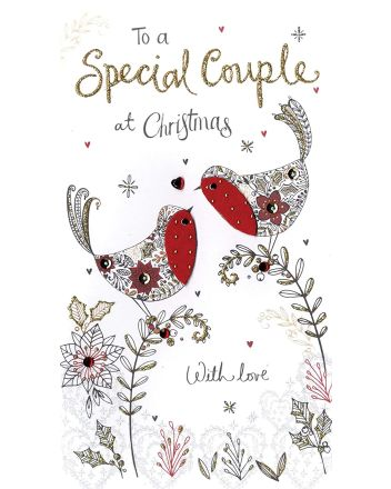 Second Nature Special Couple Robins Christmas Card