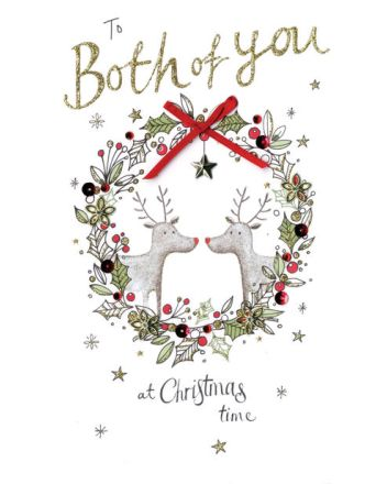 Second Nature Both of You Reindeer Christmas Card