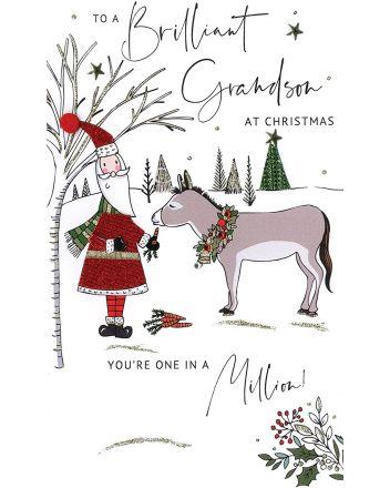 Second Nature Brilliant Grandson Christmas Card