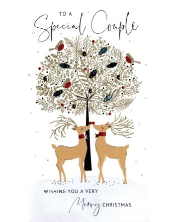 Second Nature Special Couple Reindeer Christmas Card