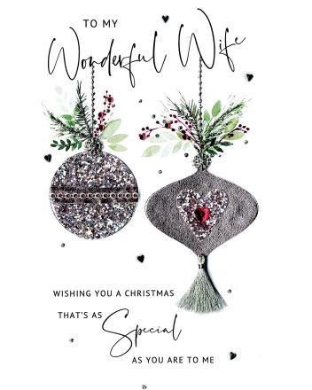Second Nature Wonderful Wife Christmas Card