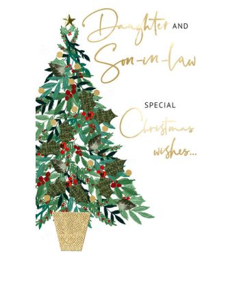 Second Nature Daughter and Son-in-law Tree Christmas Card