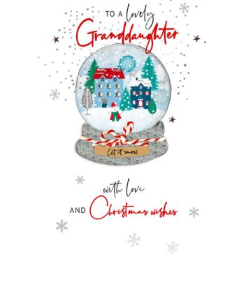 Second Nature Granddaughter Snow Globe Christmas Card