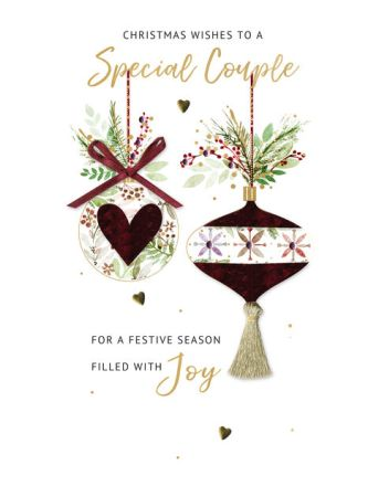 Second Nature Special Couple Decorations Christmas Card