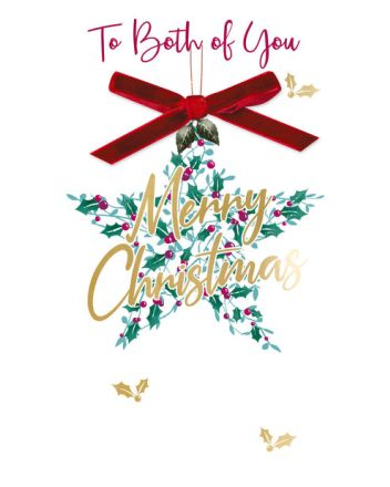 Second Nature Both of You Star Christmas Card