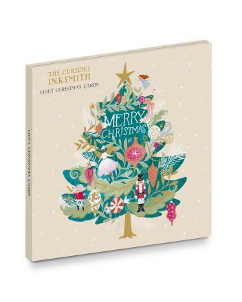 Ling Nutcracker Tree 8 Christmas Card Wallet
