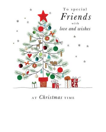 Second Nature Special Friends Tree Christmas Card