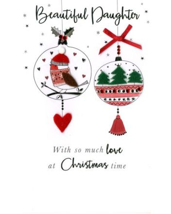 Second Nature Daughter Baubles Christmas Card