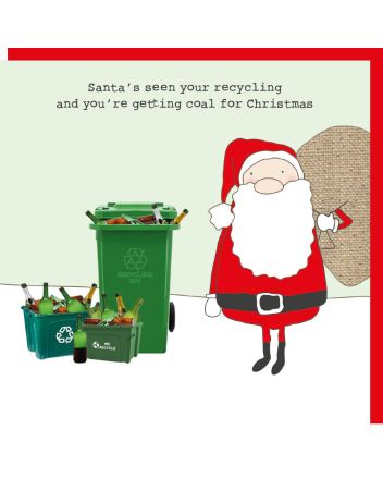 Rosie Made a Thing Santas Seen Your Recycling Christmas Card