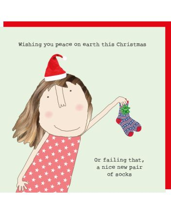 Rosie Made a Thing New Socks Christmas Card
