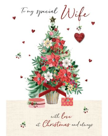 Second Nature Wife Tree Christmas Card