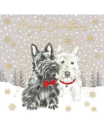 Paperlink 6 Scottie Dogs Charity Christmas Cards