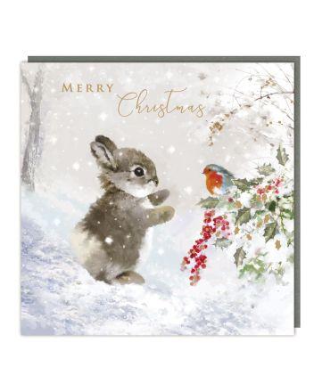 Tracks 5 Bunny and Robin Christmas Cards