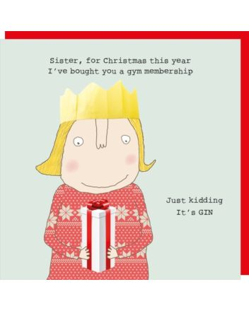 Rosie Made a Thing Sister Its Gin Christmas Card