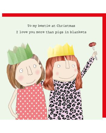 Rosie Made a Thing Bestie Pigs in Blankets Christmas Card