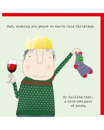 Rosie Made a Thing Dad New Socks Christmas Card