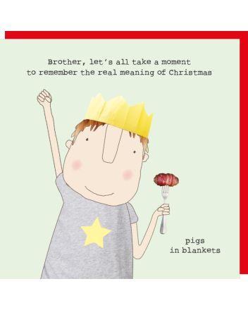 Rosie Made a Thing Brother Pigs in Blankets Christmas Card