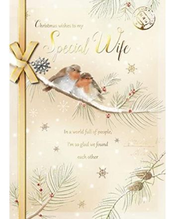 Paperhouse Special Wife Christmas Card