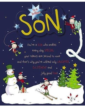 Paperhouse Brilliant Son Christmas Card