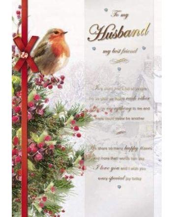 Paperhouse Best Friend Husband Christmas Card