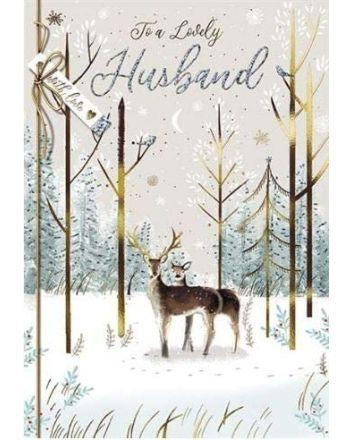 Paperhouse Lovely Husband Christmas Card