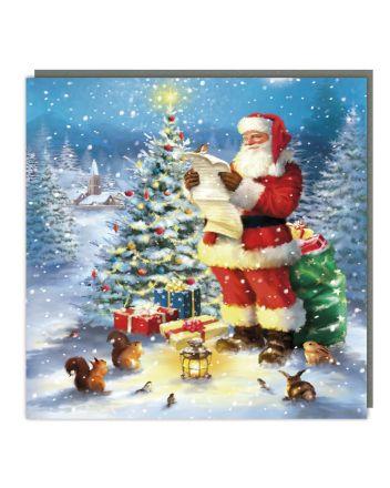 Tracks Santas List Christmas Card