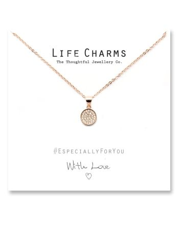 Life Charms - Rose Gold Disc Necklace