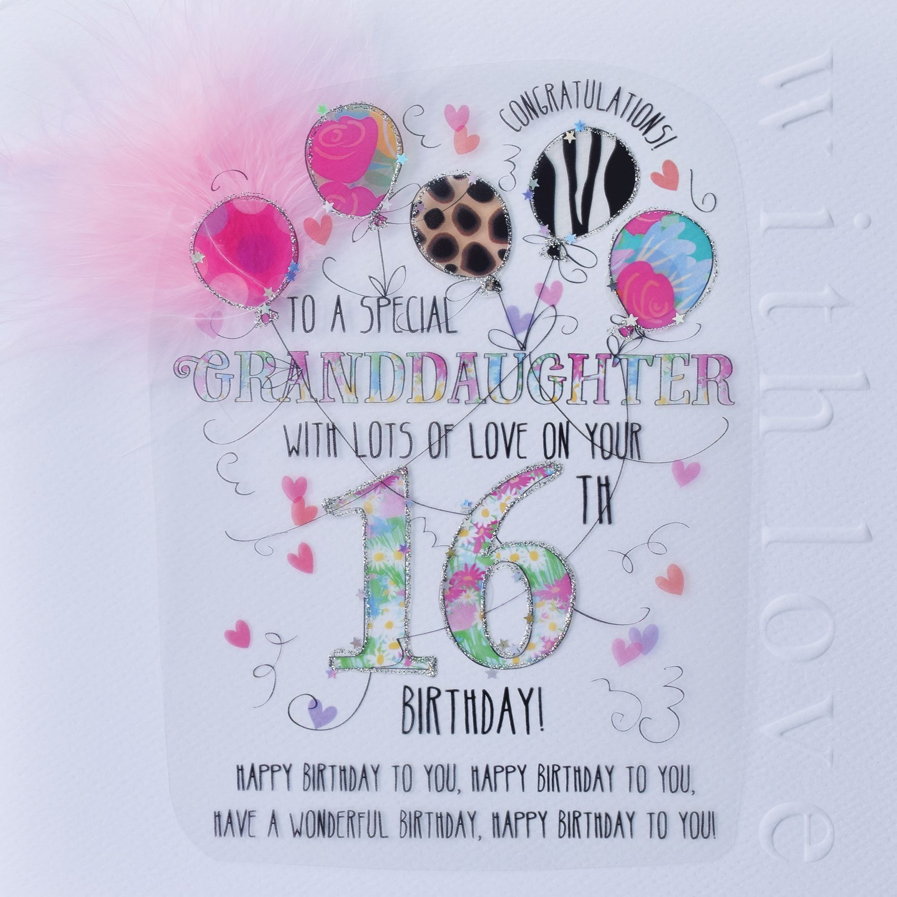 WJB Cloud 30 Granddaughter 30th Birthday Card
